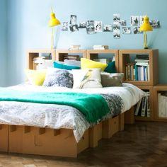 Bed out of board -  Bett DREAM - Pappmöbel online und direkt bestellen - Ihr eShop für Möbel aus Pappe von Stange Design GmbH, Berlin