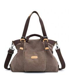 Canvas Handbag- Casual Hobo Purse Tote Bag Top Handle Handbags Crossbody  Bags for Women - Brown - C518HEYZDM2 4296506909b31