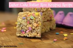 Easter Cake Batter Rice Krispies Recipe
