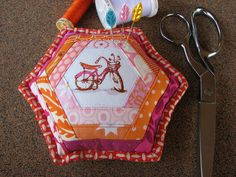 Bicycle Pincushion 2 by Michelle @ i like orange., via Flickr