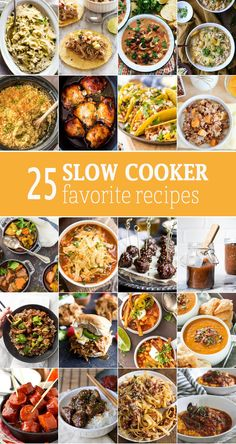 25 SLOW COOKER FAVORITES for every occasion. The best slow cooker recipes for ap… 25 SLOW COOKER FAVORITES for every occasion. The best slow cooker recipes for appetizers, main courses, and more! Nothing beats an amazing crockpot recipe! Best Slow Cooker, Crock Pot Slow Cooker, Crock Pot Cooking, Pressure Cooker Recipes, Easy Cooking, Cooking Oil, Crockpot Dishes, Crockpot Recipes, Cooking Recipes