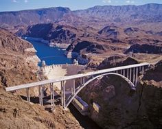 Lake Mead is located by Hoover Dam in Boulder City, NV. It is the best way to experience Hoover Dam - from the water. Beautiful Places In The World, Oh The Places You'll Go, Great Places, Places To Visit, Amazing Places, Hoover Dam Bridge, National Landmarks, Boulder City, Humor