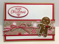 Cookie Cutter Christmas, Gingerbread Boy Christmas Card, Hang Your Stocking, Stampin' Up!, Rubber Stamping, Handmade Cards