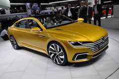 New Release 2015 Volkswagen C Coupe GTE Review Front Side View Model