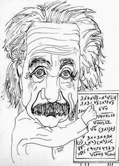 CARICATURAS DELBOY: ALBERT EINSTEIN