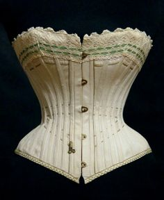 Corset from Russia was made at the Abramson corset factory,  c.1890's.