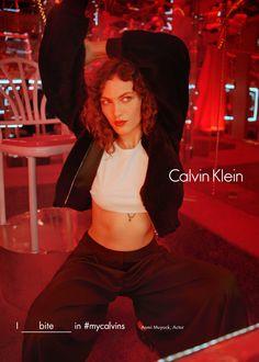 Aomi Muyock in Calvin Klein's fall 2016 campaign. Photo: Tyrone Lebon/Calvin Klein.