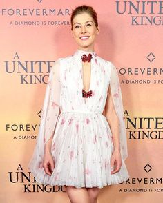 It doesn't get much dreamier than Rosamund Pike's romantic @giambattistavalliparis mini!  Getty Images  via INSTYLE AUSTRALIA MAGAZINE OFFICIAL INSTAGRAM - Fashion Campaigns  Haute Couture  Advertising  Editorial Photography  Magazine Cover Designs  Supermodels  Runway Models
