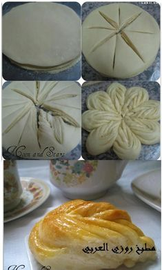 fiore di pan brioche - Just this picture Bread Shaping, Bread Art, Bread And Pastries, Sweet Bread, Creative Food, Sweet Recipes, Cooking Recipes, Pastry Recipes, Bread Recipes