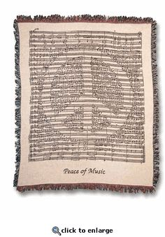 Peace of Music Woven Tapestry Throw