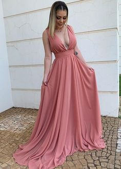 Sexy evening dresses for women,V Neck Long Prom Dress,Sleeveless A-line long formal dresses · KProm · Online Store Powered by Storenvy Affordable Prom Dresses, Elegant Dresses, Formal Dresses, Sexy Evening Dress, Evening Dresses, Quoi Porter, Party Gowns, Dress Prom, Wedding Dress