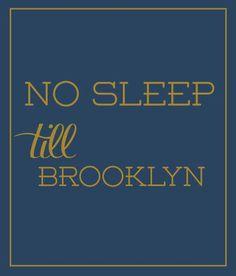 No Sleep Till Brooklyn in Blue - Luvloo - $44.99 - domino.com