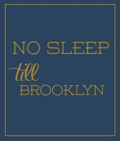 No Sleep Till Brooklyn in Blue - Luvloo - $44.99 - domino.com