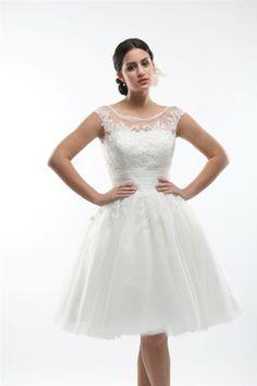 Kurzes Brautkleid E5290