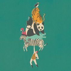 #tbt #menagerie #strongman #circus #panda #zebra #puffin #tiger #flamingo