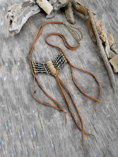 Necklace NATIVE AMERICAN Breastplate Inspired by Minouchkita