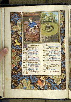 October - Psalter - France, Paris, between 1495 and 1498 - MS M.934 fol. 5v