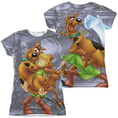 Scooby Doo - Scooby And Shaggy Front & Back Sublimation Junior Shirt