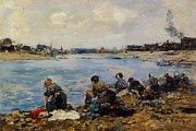 """New artwork for sale! - """" Laundresses On The Banks Of The Touques 11 by Boudin Eugene """" - http://ift.tt/2AK1KoS"""