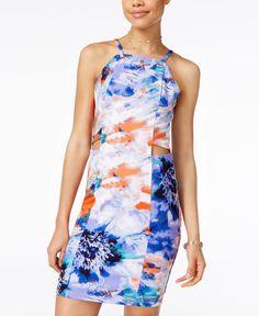 Xoxo Juniors' Printed Cutout Bodycon Dress