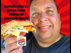 Burger King's® Extra Long Sriracha Cheeseburger REVIEW!