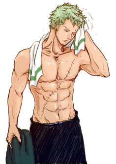 Roronoa Zoro | One Piece <3<3<3<3<3<3<3<3<3<3<3<3<3 sorry so sexy for me....