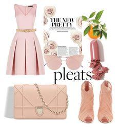 """pleats "" by joanneintofashion on Polyvore featuring BCBGMAXAZRIA, Dolce&Gabbana, Nina Ricci, LAQA & Co. and So.Ya"