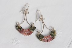 tourmaline and sterling silver chandelier earrings by The Coral Tree on hellopretty.co.za Silver Chandelier, Chandelier Earrings, Coral, Sterling Silver, Pink, Jewelry, Design, Jewlery, Jewerly