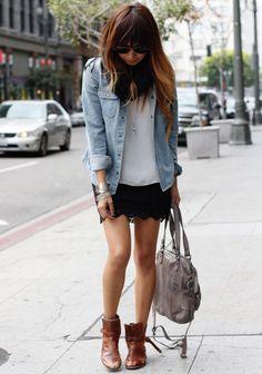 look chemise en jean