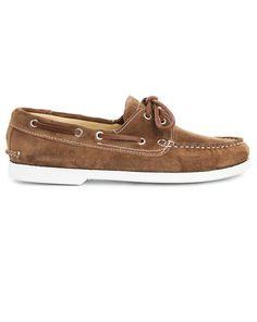 Chaussures bateau Luke cuir suède beige