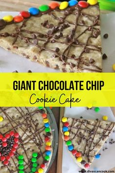 Learn how to make giant cookie cakes just like the mall sells! Easy recipe for a giant, chewy chocolate chip cookie! Giant Cookie Cake, Chocolate Chip Cookie Cake, Giant Chocolate, Cake Mix Cookies, Mini Chocolate Chips, Cookie Cakes, Easy Cookie Recipes, No Bake Cake, Yummy Food