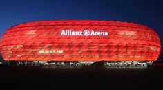 Allianz Arena, the home of Bayern München. Always spectacular Soccer Stadium, Football Stadiums, Dfb Team, Fc Bayern Munich, Amazing Buildings, European Football, Environmental Design, Dream Vacations, Hd Wallpaper
