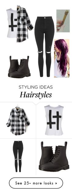 """"""""""" by angelluvsluke on Polyvore featuring мода, Topshop и Dr. Martens"""