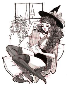 Oh to be a witch. Art And Illustration, Illustrations, Arte Inspo, Kunst Inspo, Fantasy Kunst, Fantasy Art, Anime Kunst, Anime Art, Pretty Art