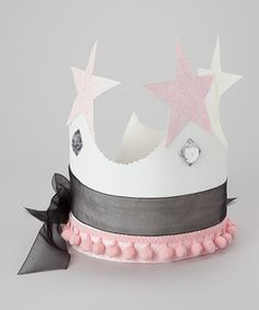 A proper petite princess needs a crown to establish supreme royalty. This precious paper topper boasts sparkly stars and fancy ribbon that ties in the back to make every little noble feel especially important. Vintage Princess Party, Girl Birthday, Birthday Crowns, Paper Crowns, All Craft, Black Ribbon, Fun Crafts, Sewing Crafts, Fancy