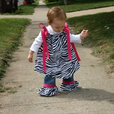 Zebra Pillowcase Dress with Hot Pink Ribbon by jazzygirlboutique, $41.50
