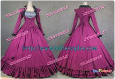 Gothic Victorian Cotton Jacket Dress Ball Gown Cosplay costume