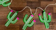 Cactus Felt Banner by ColorfulMCreativeH on Etsy