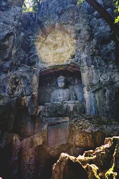 buddha grotto, feilai feng, china