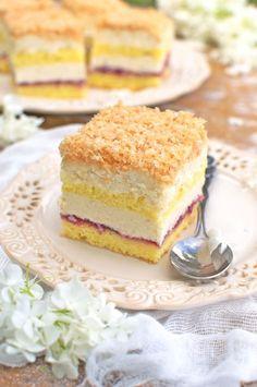 Polish Desserts, Polish Recipes, Sweets Cake, Cupcake Cakes, Eclairs, First Communion Cakes, Cake Decorating Videos, New Cake, Mini Foods