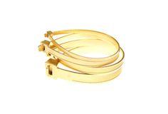 Katrin Spranger gold cable tie bangles
