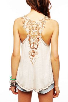 Crochet Back Tank Top - Fashion Tank Top For Women from Urban Outfitters. s53