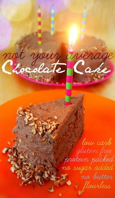 Not Your Average Chocolate Cake: Low Carb, Gluten Free, Protein Packed, No Sugar Added, No Butter and Flourless.