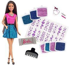 "Barbie Glitter Hair Design African-American Doll - Mattel - Toys""R""Us Mattel Barbie, Mattel Shop, Barbie Hair, Barbie Life, Barbie Clothes, American Dolls For Sale, African American Dolls, American Girl, Barbie Style"