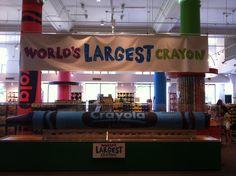 Worlds largest crayon #blue #crayola #worldslargestcrayon