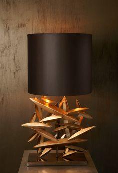 Leafy Lamp by Deniz Tunç Interior Lighting, Lighting Design, Luxury Lighting, Custom Lighting, Light Table, Lamp Light, Light Fixtures, Light Fittings, Unique Lamps