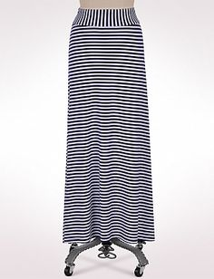 Misses | Skirts | Banded Striped Maxi Skirt | Dressbarn