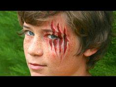 Halloween Schminke: Eine offene Wunde / Verletzung - Gruselige Schminkanleitung - YouTube