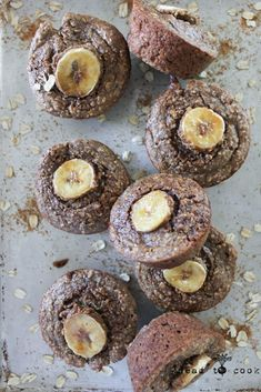 Protein Packed Banana Muffins.  Vegan.  Gluten Free.