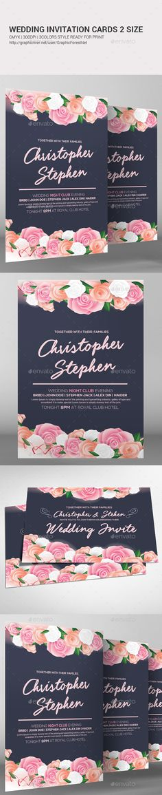 #Wedding Invitation Card.Download here: http://graphicriver.net/item/wedding-invitation-card-/15937114?ref=arroganttype